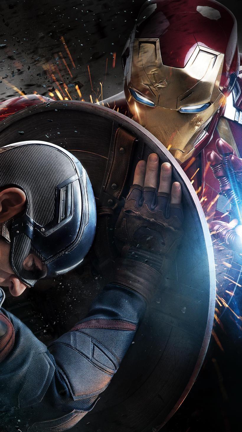 Captain America: Civil War (2016) Phone Wallpaper