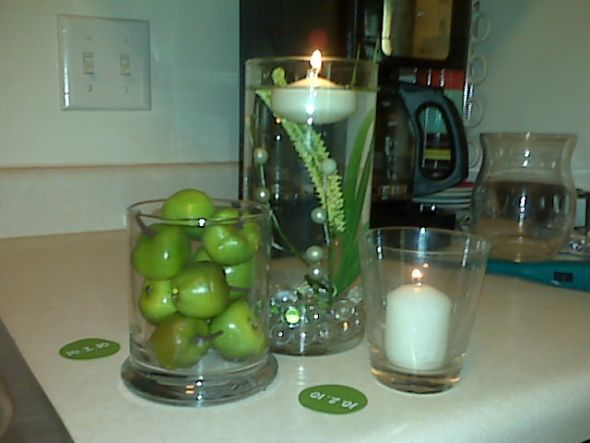 Fall wedding decorations with red and green apples trial 1 diy fall wedding decorations with red and green apples trial 1 diy centerpieces wedding centerpiece apple junglespirit Image collections