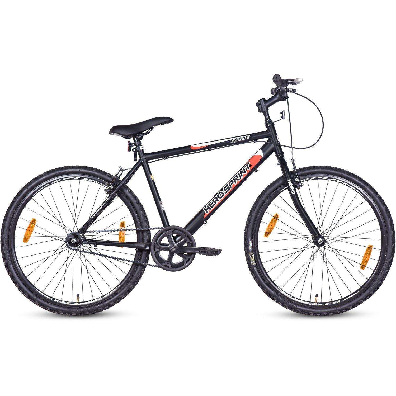 Hero Kyoto 26t Single Speed Cycle Black Bicycle Cycle