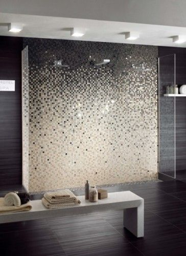 Would love an ombr tiled feature wall in a bathroom for Feature wall tile ideas