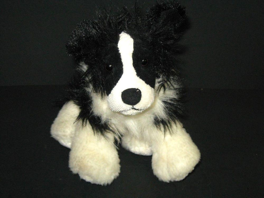 Webkinz Border Collie Plush Dog Puppy No Code Stuffed Animal Black