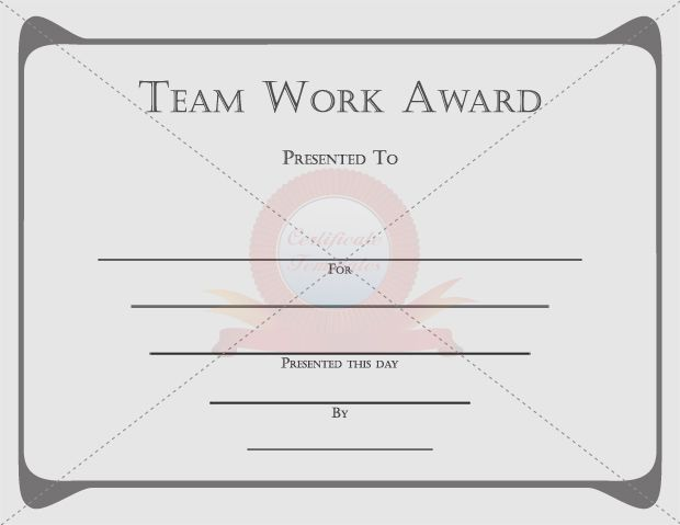 Team Work Certificate TEAM WORK CERTIFICATE TEMPLATES - employment certificate template