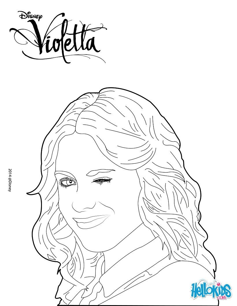 A Beautiful Coloring Page Of The Famous Disney Series Violetta Color This Portrait