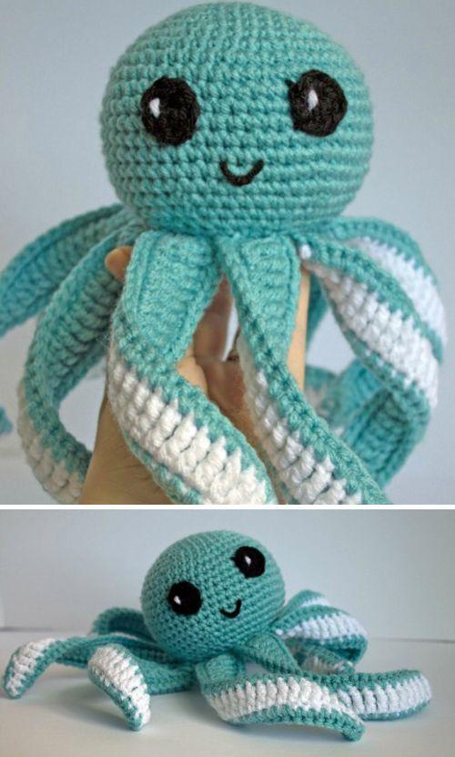 Crochet For Children: Amigurumi Octopus Baby Toy - Free Pattern ...