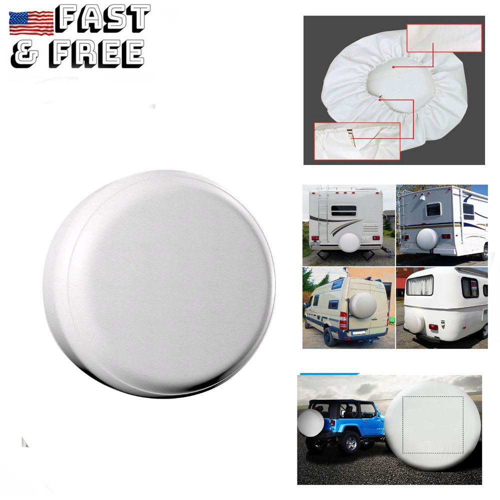 Advertisement Ebay White Spare Tire Cover Waterproof Tire Covers