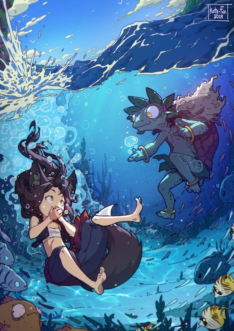 Dawn breath holding underwater by crt2mtsu1 on DeviantArt