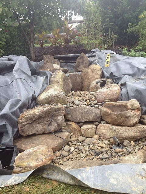 Pondless Waterfall Build | Water features in the garden ...