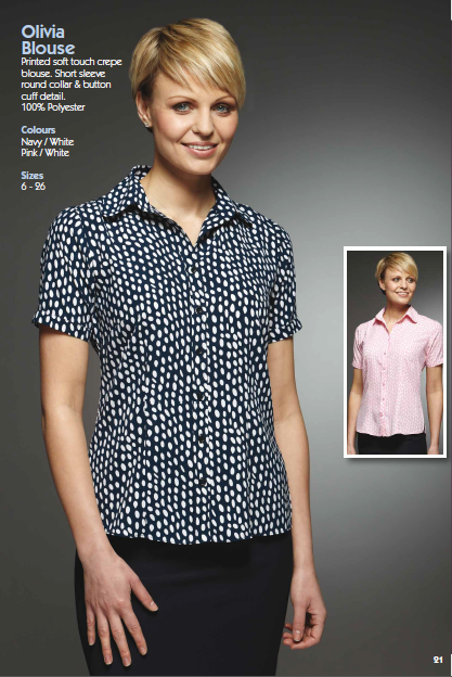 Olivia Blouse,full brochure can be downloaded here http://www.workuniformsdirect.com/businesswear  #workuniformsdirect #uniform #corporate #business #fashion