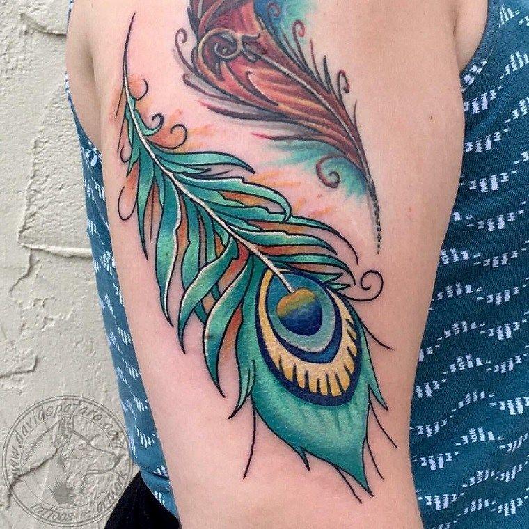 Tatuajes De Plumas Significado De Disenos De Estilos Y Mas De 50 Fotos Para Inspirar Tatuajes De Plumas Significado Del Tatuaje De Pluma Tatuaje De Pluma De Pavo Real