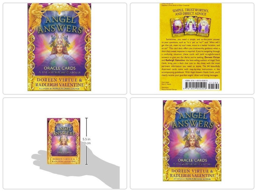Angel answers oracle cards 44card deck and guidebook