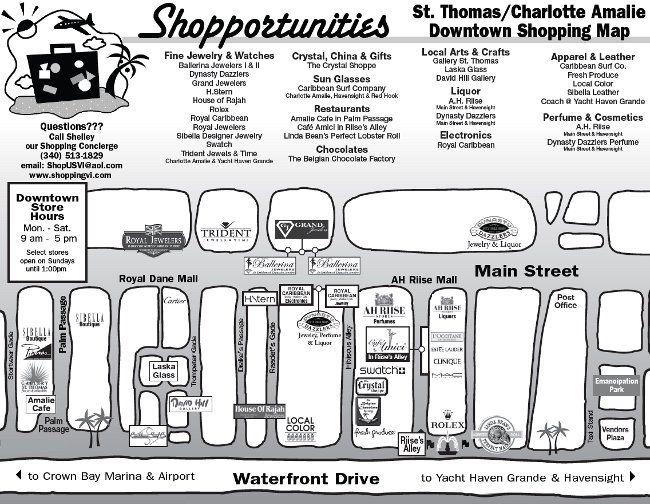st thomas and charlotte amalie shopping map Cruising Pinterest