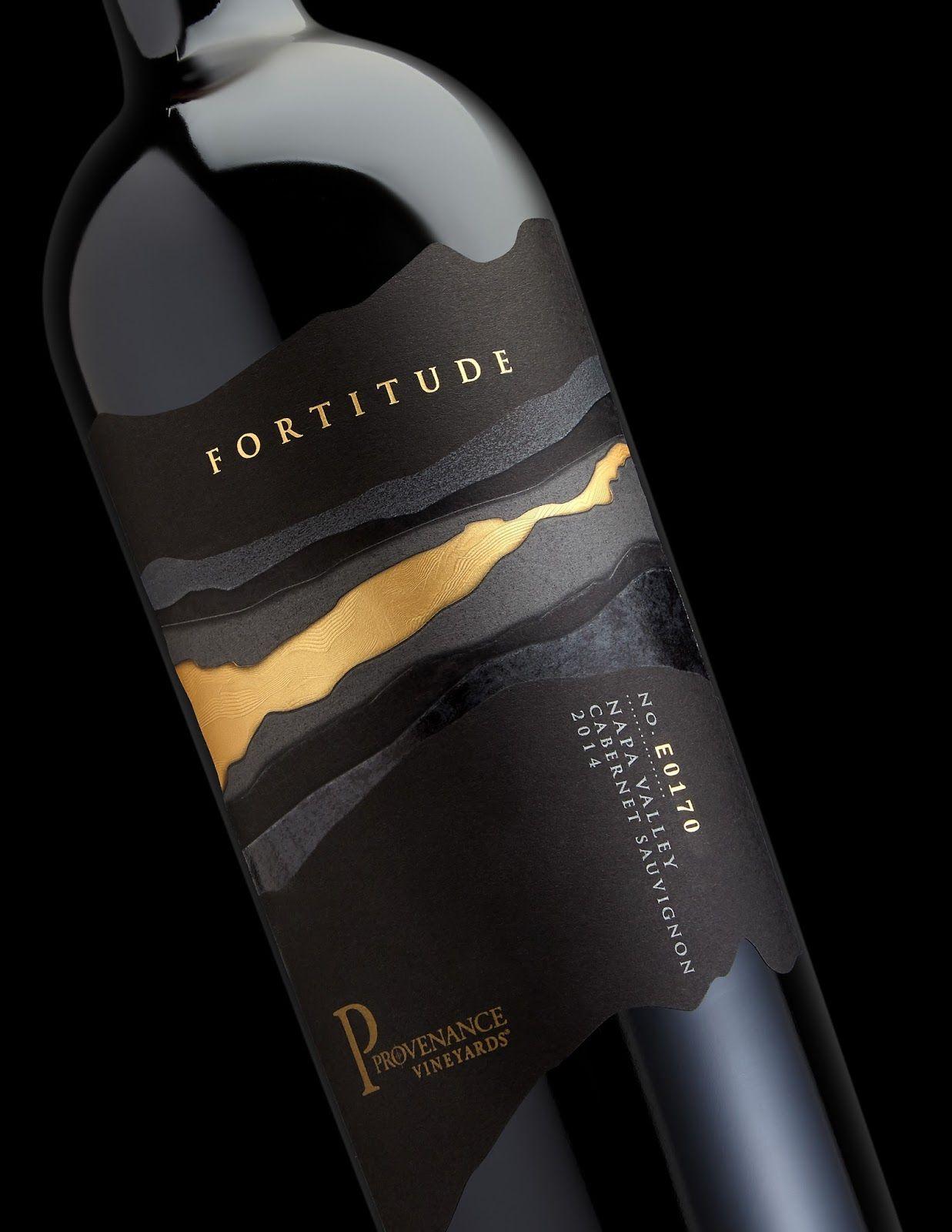 Fortitude Design De Bouteille Etiquette Vin Et Etiquette