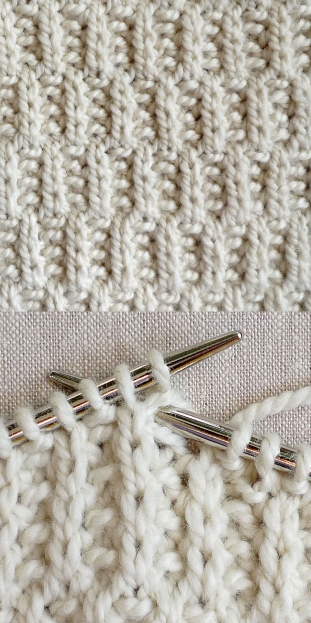 Knitting Stitches Patterns Easy : #Knitting_Tutorial -