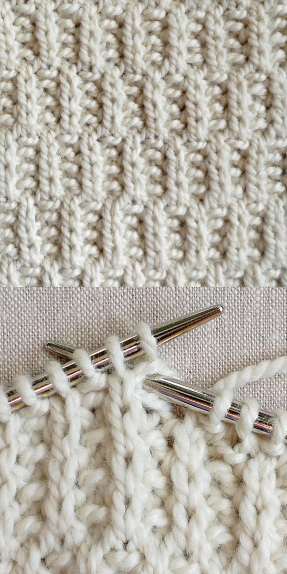 Knittingtutorial Rambler Stitch Has Such Great Texture Its A