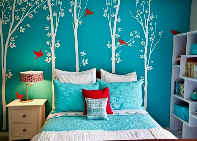 Master Bedroom Decor Hacks Wallpaper 1 2 Of Any Room Redecorating Walls Can Cost A Lot Of Money Othe Turquoise Room Girls Bedroom Turquoise Girls Room Paint