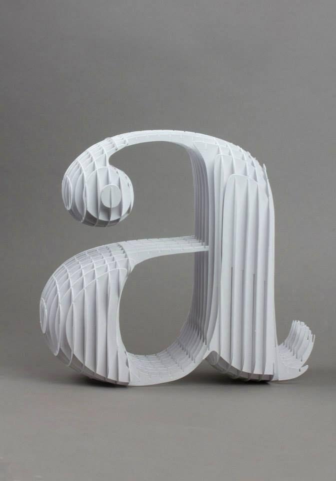 Bodoni lettering / Cardboard version by Lo Sciento