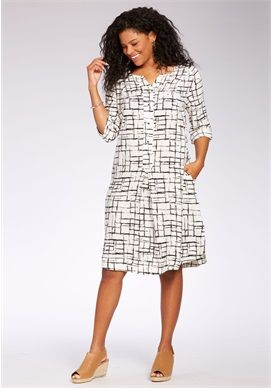 Plus Size Trapeze shirt dress