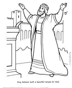 King Solomon Bible page to color 019 | Solomon bible, King ...