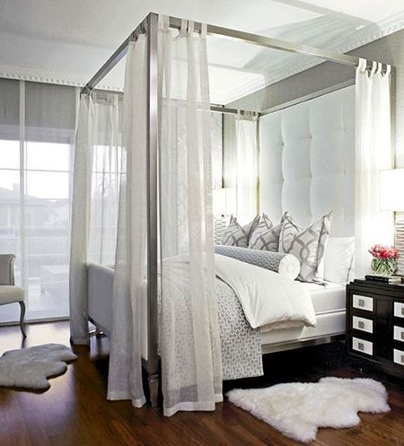 Currently Obsessed Silver Canopy Bed Preciously Me Canopy Bed Frame Bedroom Design Remodel Bedroom