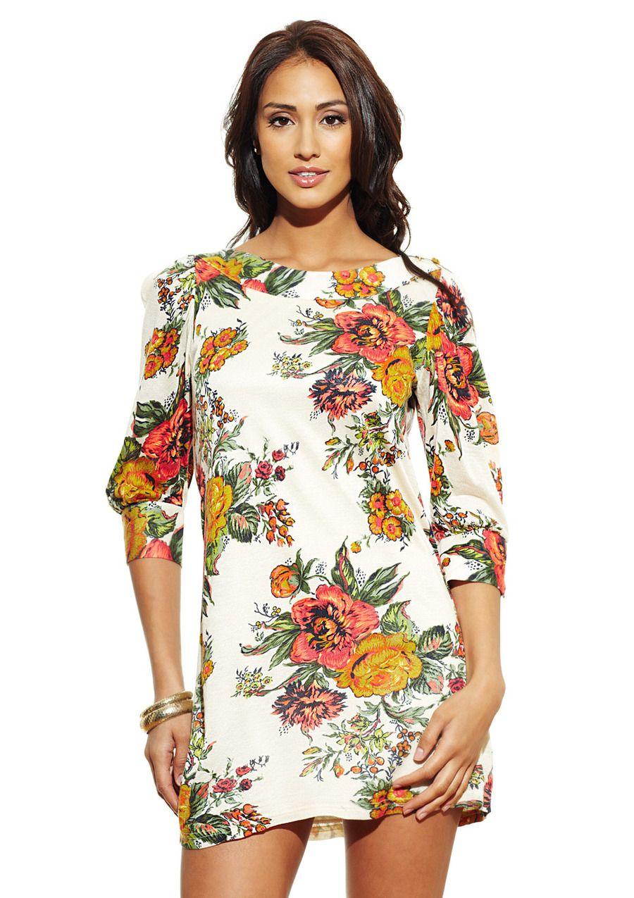 White Floral Print Dress Stylish Pinterest Floral Printing