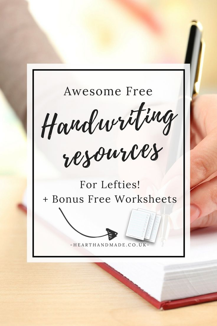 Are you a leftie who wants to improve your handwriting or even learn calligraphy? Free resources for you! http://www.hearthandmade.co.uk/free-handwriting-resources/?utm_campaign=coschedule&utm_source=pinterest&utm_medium=Heart%20Handmade%20UK&utm_content=Awesome%20Free%20Handwriting%20Resources%20For%20Lefties%21