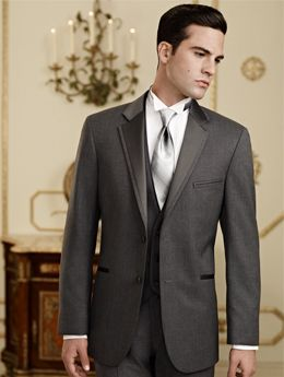 The grey Twilight suit by Jean Yves is a wonderful option for any formal event. Featuring a stylish 2 button single breasted front, self notch lapel, self besom pockets, side vents, and fashioned from a contemporary grey poly/wool blended material, this suit coat is perfect for your daytime wedding, semi-formal event, or anywhere else you want to look sharp!