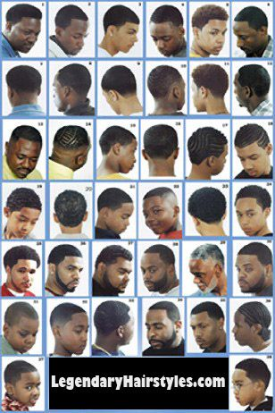 Men Hairstyles Ideas Black Haircuts Styles Chart