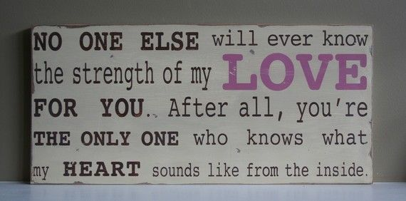 Whew...this one got me a little weepy! What a sweet quote and wouldn't this be sweet as a gift for a new mom somehow?