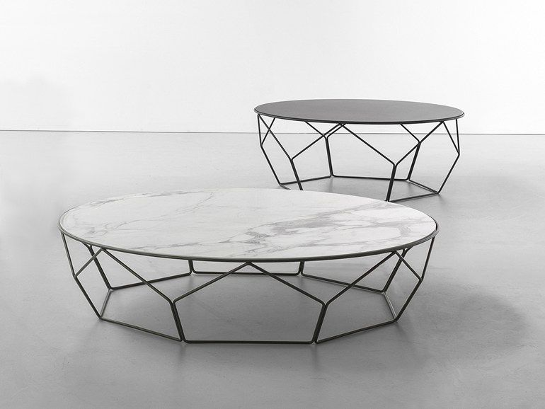 Low round ceramic coffee table Bonaldo 1532T Pinterest Low