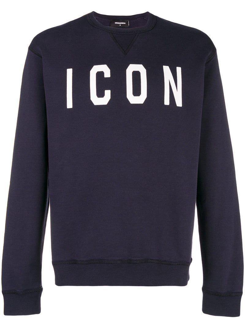 Dsquared2 Blue Icon Sweatshirt Modesens Sweatshirts Mens Outfits Dsquared2 [ 1067 x 800 Pixel ]