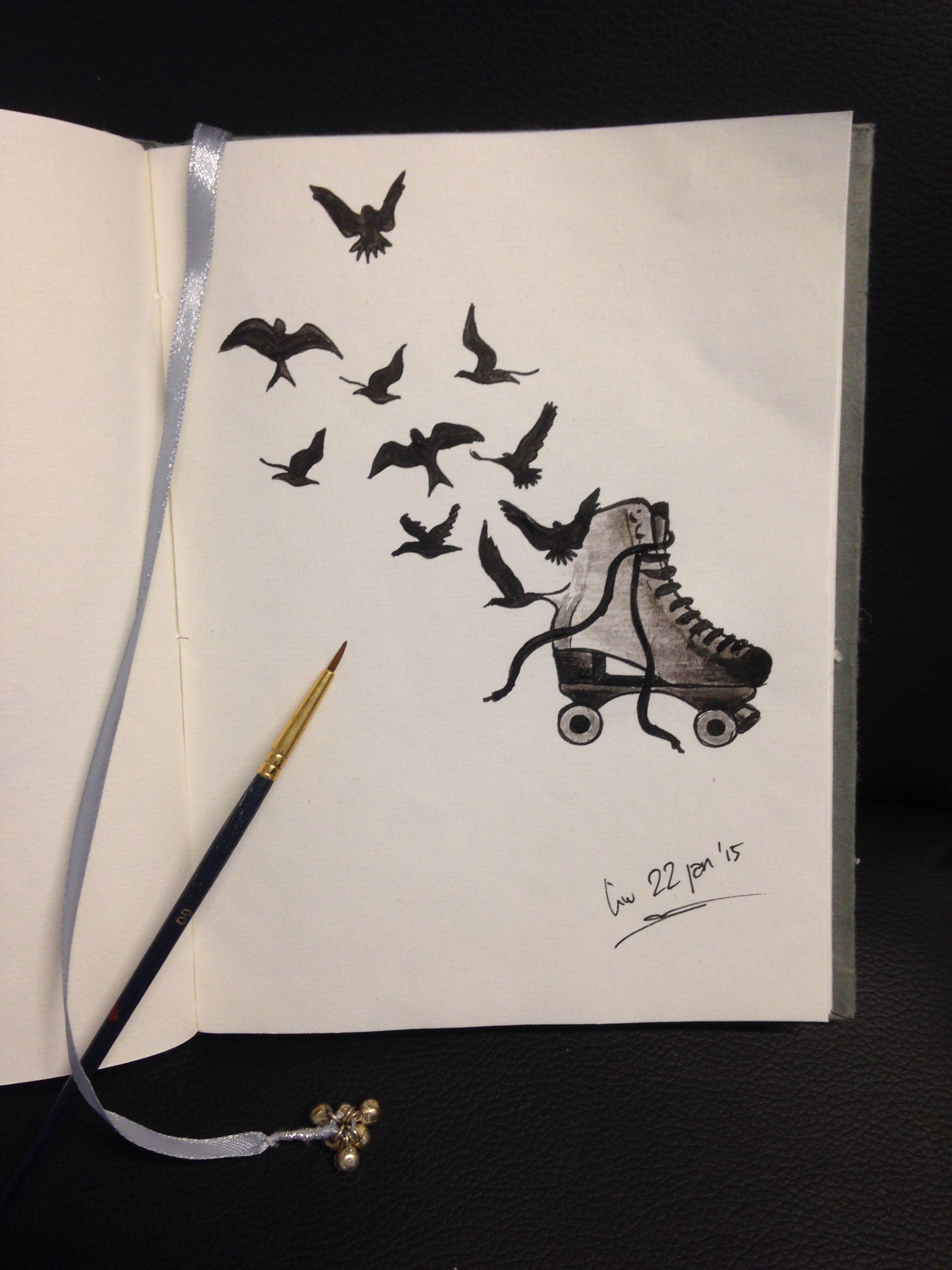 Love Skates & Tattoo  Drawing Made By Linda  Da Linci, Zwijndrecht The Herlands