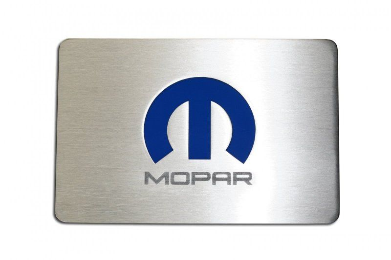 Challengercharger Brushed Fuse Box Cover Plate With Mopar M Logo
