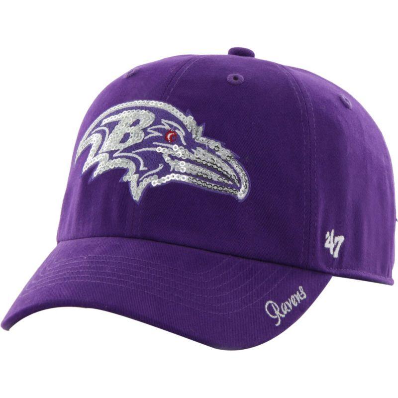 47 Women s Baltimore Ravens Sparkle Logo Purple Adjustable Hat ... 4dadfbeeaac