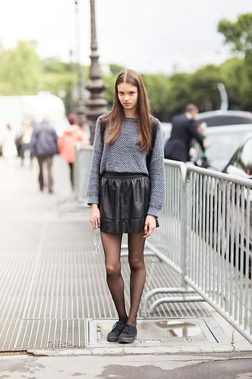 30 Outfits That'll Make You Want a Black Leather Skirt | Leather ...