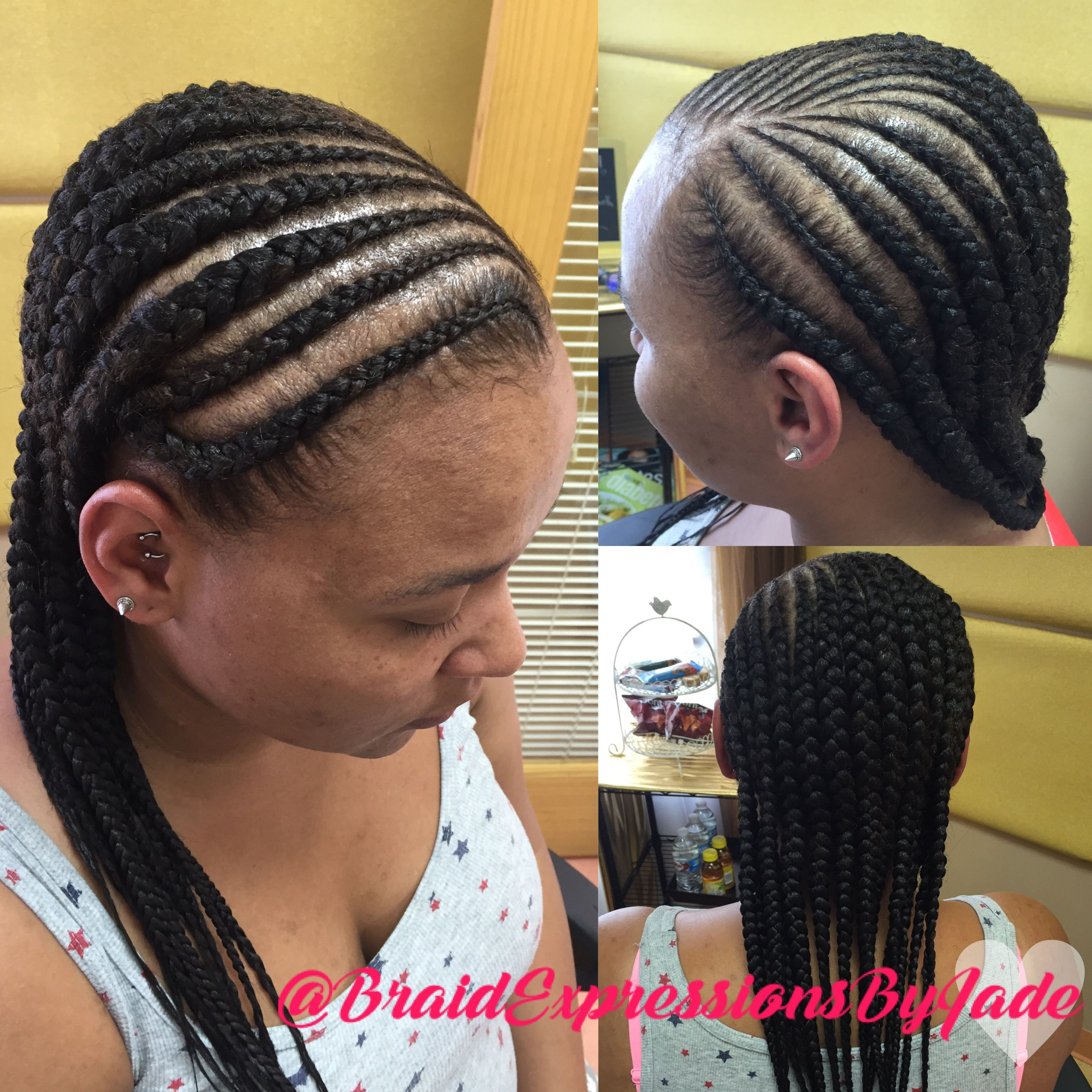 medium size feed in braid style | feed in braids / boxer