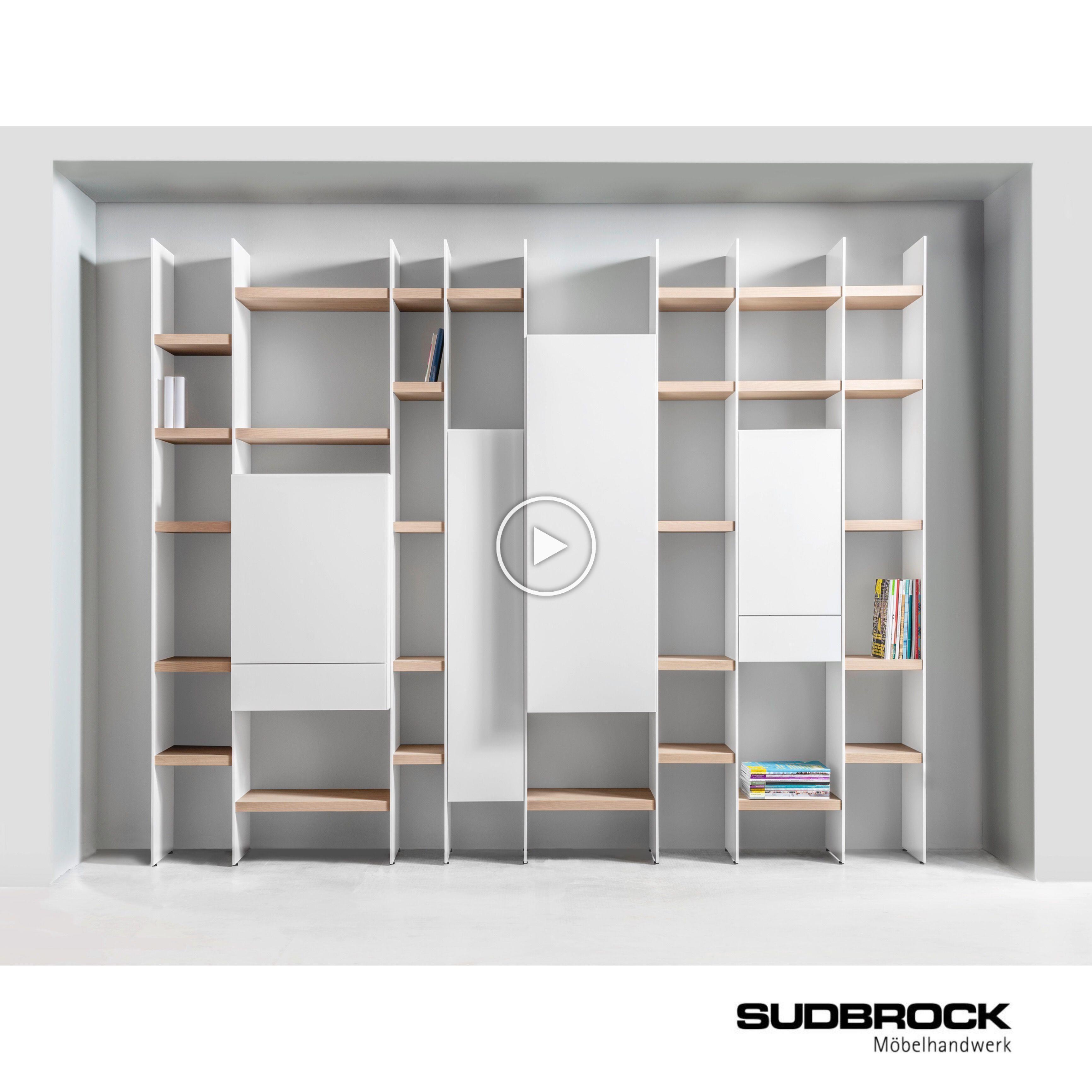 Wohnzimmer Regal SCALA von SUDBROCK Möbel - Bücherregal