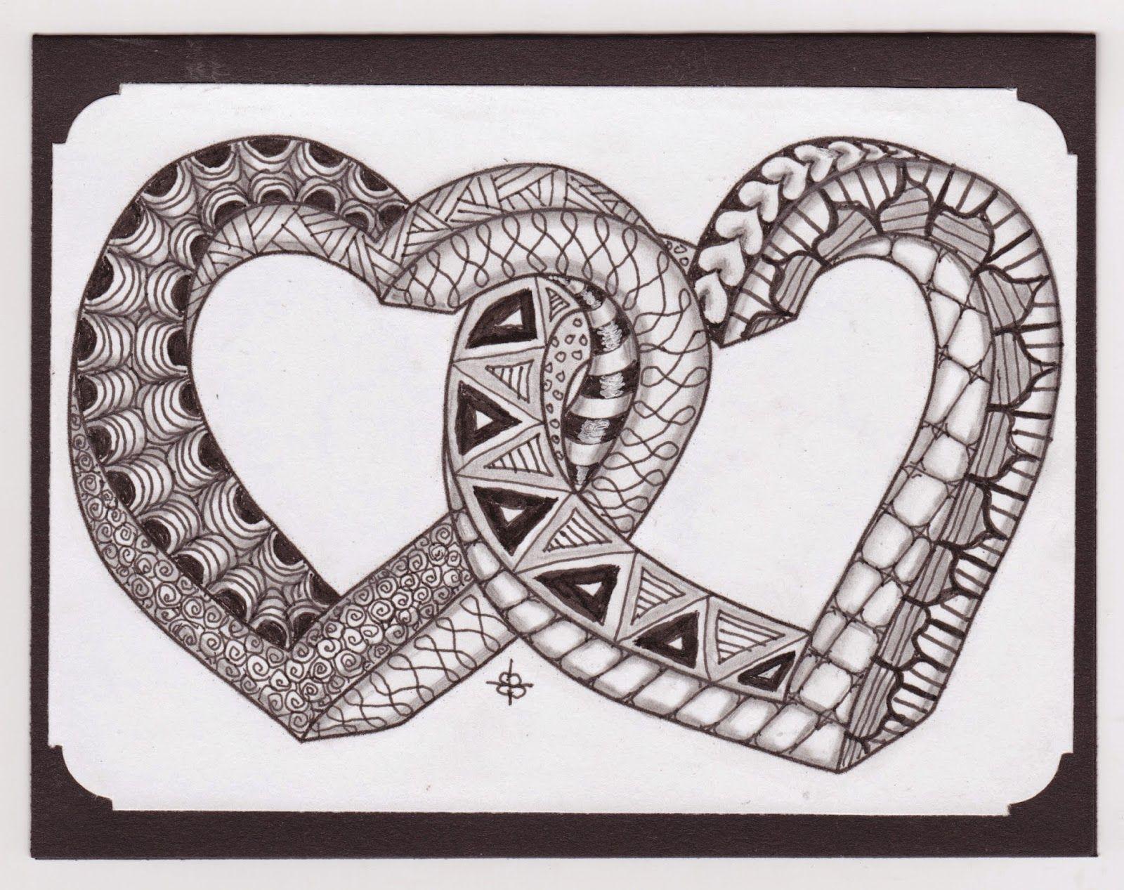Impossible Hearts Zentangle Zentangle Patterns Zentangle Drawings Zentangle
