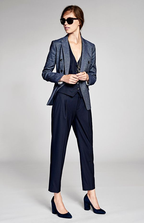 NYFW Spring 2017 Collection. Our chic suiting separates are inspired by him with a flair of feminine elegance | Banana Republic