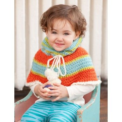 Free Easy Kids Poncho Crochet Pattern Crochet Ponchos Pinterest