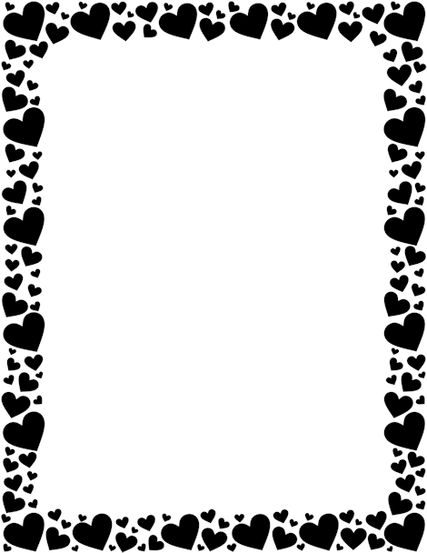 Printable black heart Border. Free GIF, JPG, PDF, and PNG downloads ...