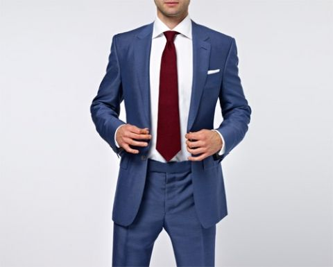 burgundy tie with navy blue suit | wedding stuff | Pinterest ...