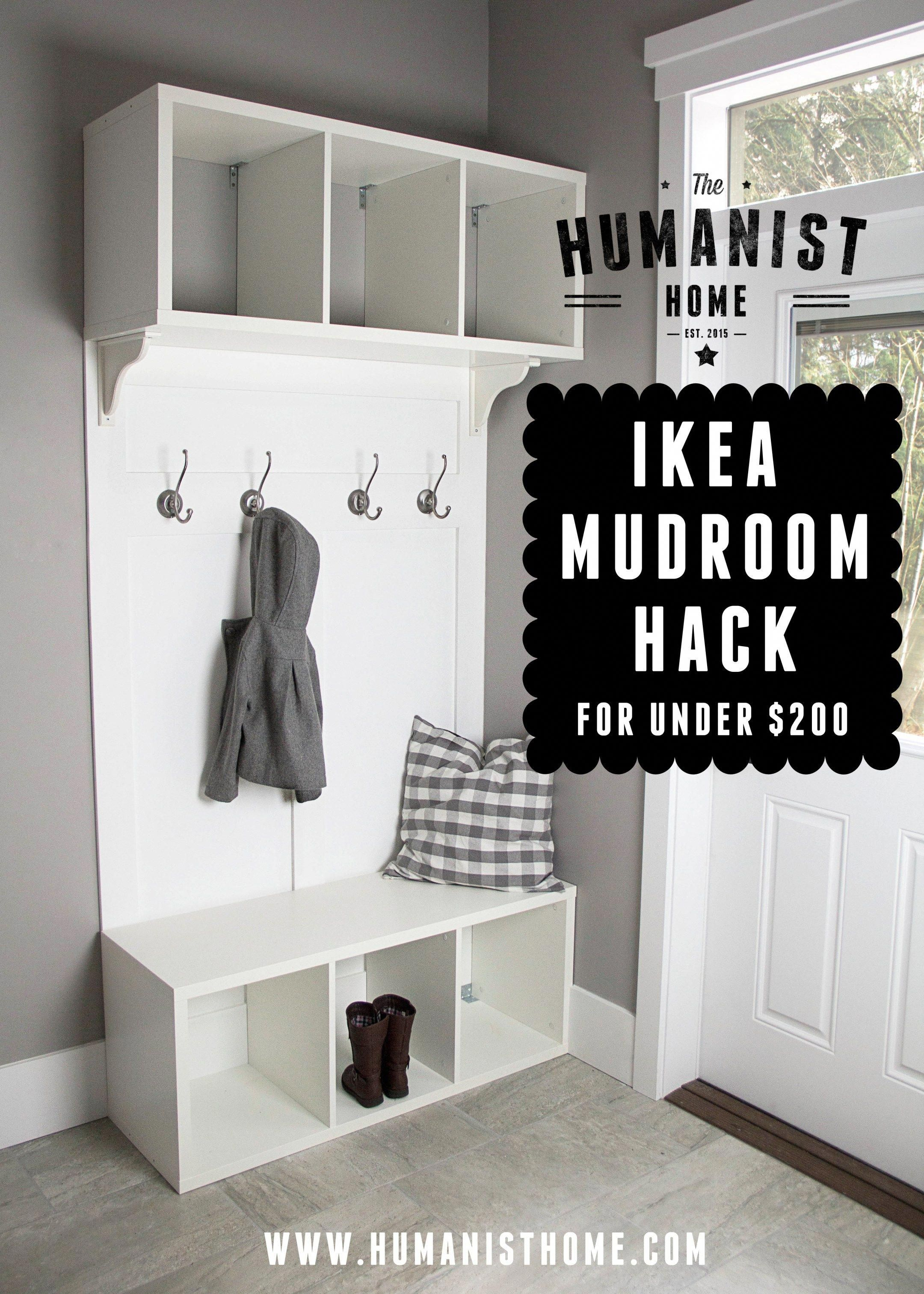 Ikea Holzmöbel Ikea Mudroom Bench & Storage Unit Hack For Under $200 # ...