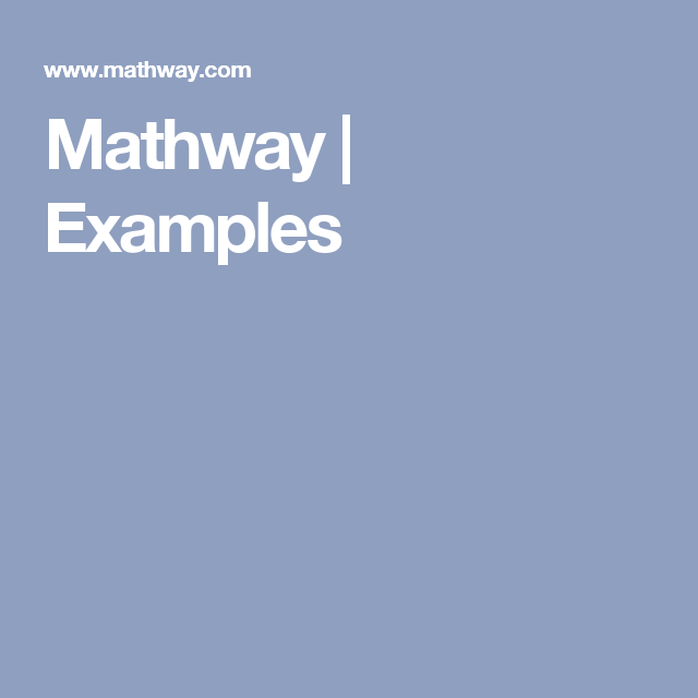 Mathway | Examples | Math Classes | Pinterest | Math problem solver ...