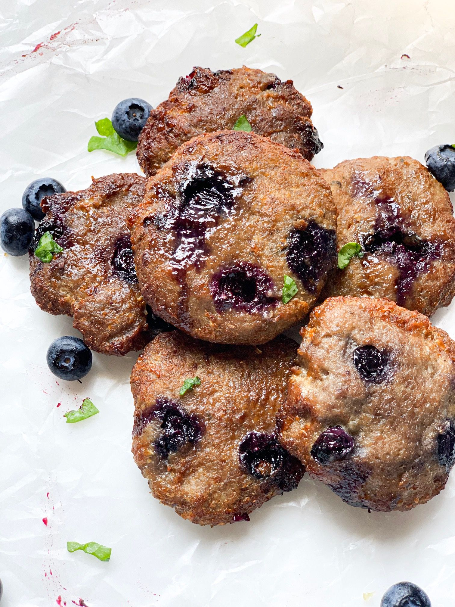 Eat Whole Live Fit Blueberry Sausage Patties (With