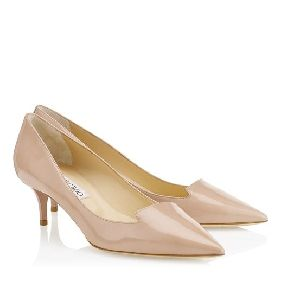 Jimmy Choo ALLURE Nude Patent Leather Pointy Toe Pumps