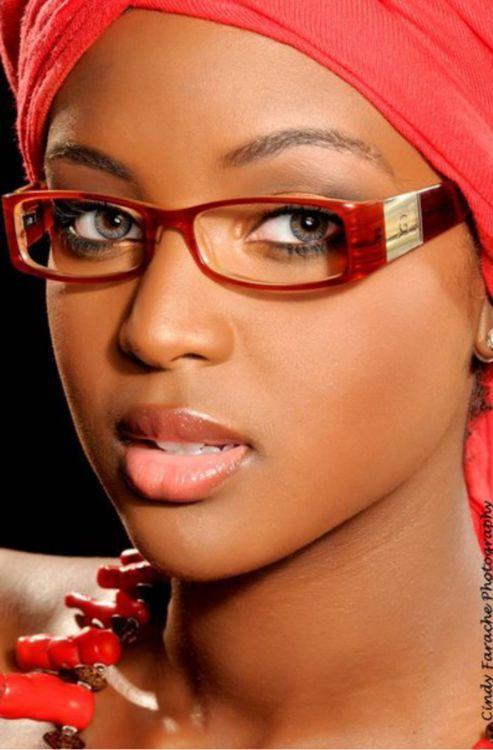 naked black girls wearing glasses