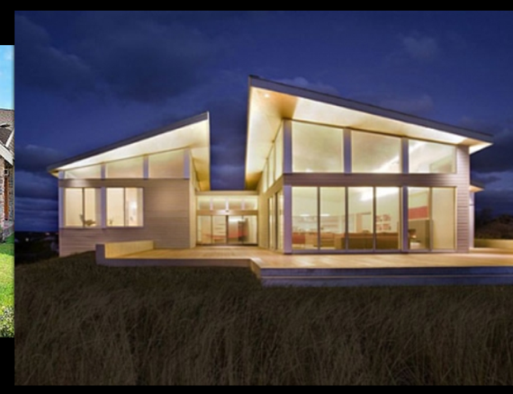 White House With Shed Roofs Modern Beach House Beach House Design House Exterior