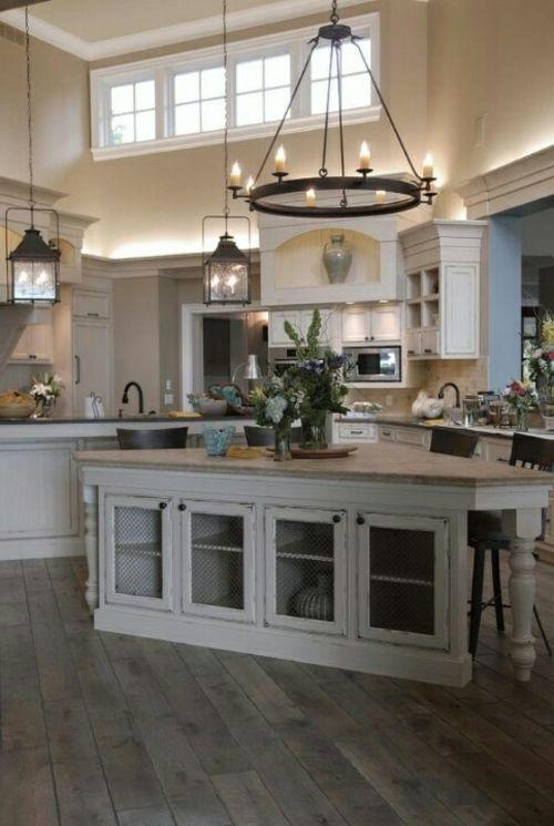 Küche Landhausstil gestalten bodenbelag arbeitsplatte - bodenbeläge für küche