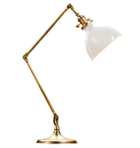 Search Results For Grandview Task Lamp Aged Brass With White Shade |  Rejuvenation