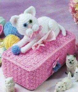 Résultats de recherche d'images pour «boîte à mouchoirs chat crochet»